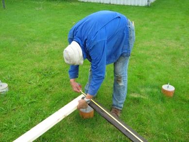 Samling af tømmer